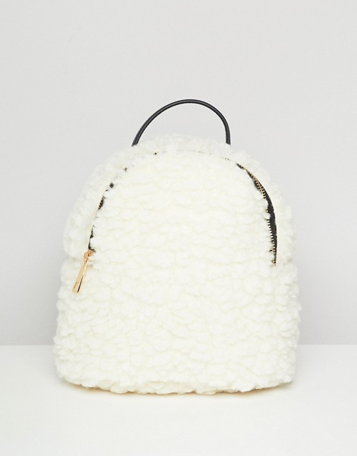 backpack shearling asos