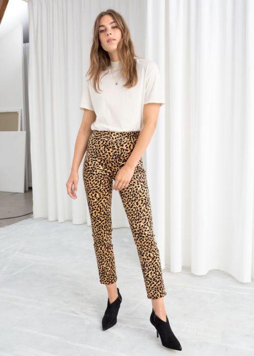 LEAPORD pants print