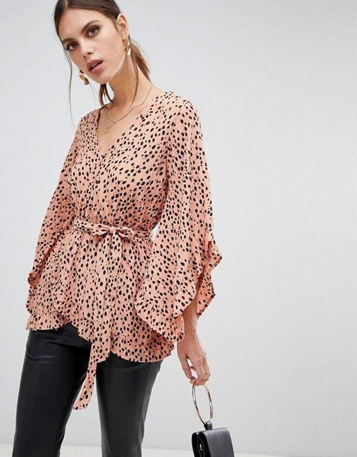 leopard frill sleeve hijab