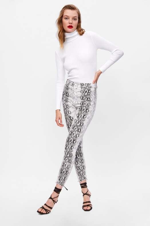 snake print high waist hijab