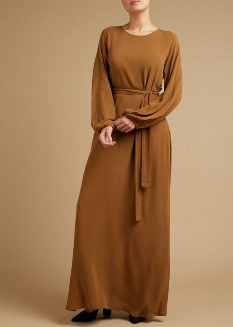maxi dress camel